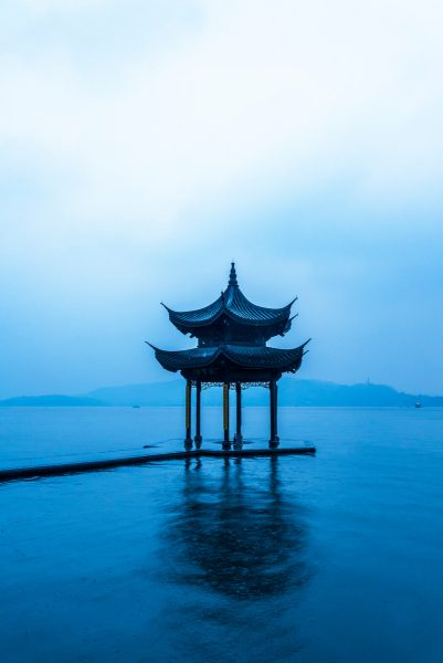 Pagoda, West Lake, Hangzhou, Zhejiang province, China